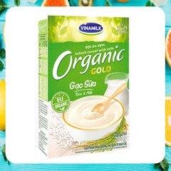 Bột ăn dặm ORGANIC GOLD Gạo sữa - Hộp giấy 200g