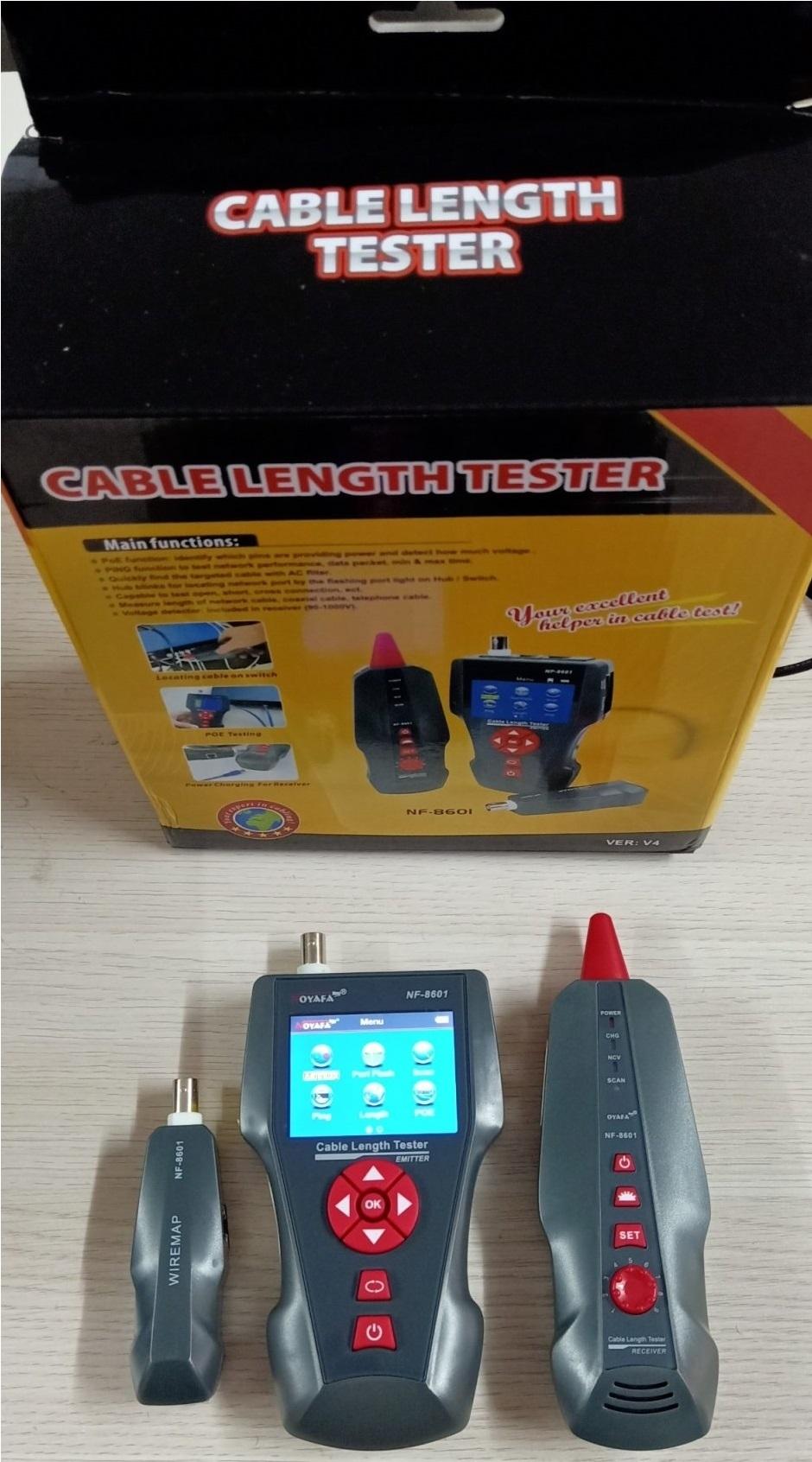 Máy Test Cáp mạng chính hãng NOYAFA NF-8601, giá rẻ, chất lượng cao. BH 12 tháng