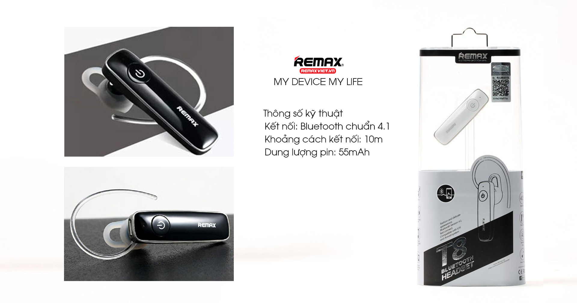 TAI NGHE BLUETOOTH REMAX RB-T8