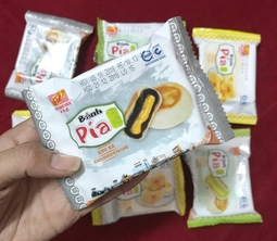 Bánh Pía Kim Sa Mè Đen_Tân Huê Viên( loại 500g/túi)