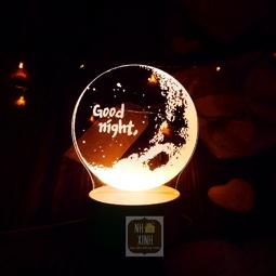 Đèn ngủ 3d GOODNIGHT , quà tặng sinh nhật, quà tình yêu