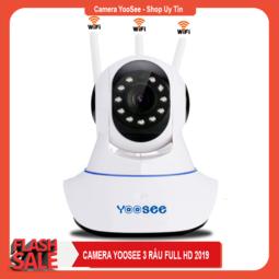 Camera Yoosee 3 Râu 2019 Tiếng Việt Xoay 360 Độ