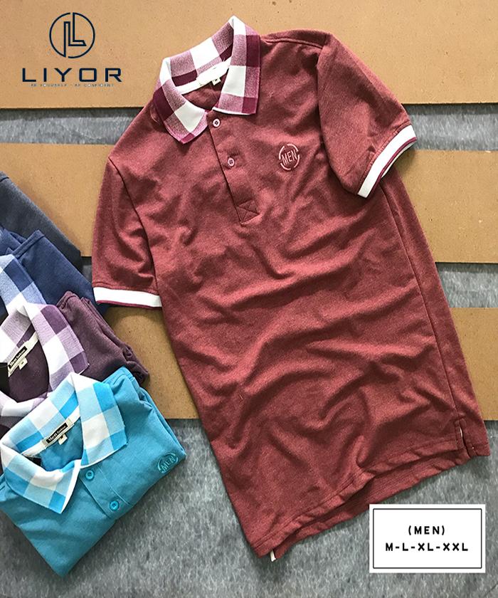 Áo thun nam Liyor Có cổ thời trang nam đơn giản - ATCS071