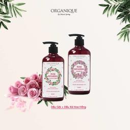 Bộ dầu gội xả hữu cơ hoa hồng phục hồi tóc Organique 500ml