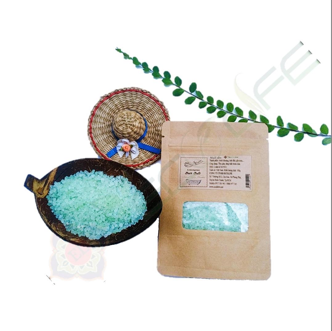 Muối tắm tinh dầu sả chanh (Túi 100g)