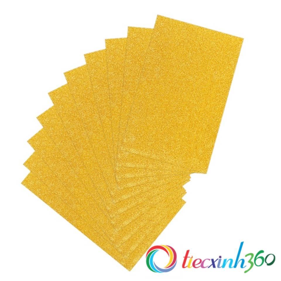 Giấy kim tuyến A4 - Vàng