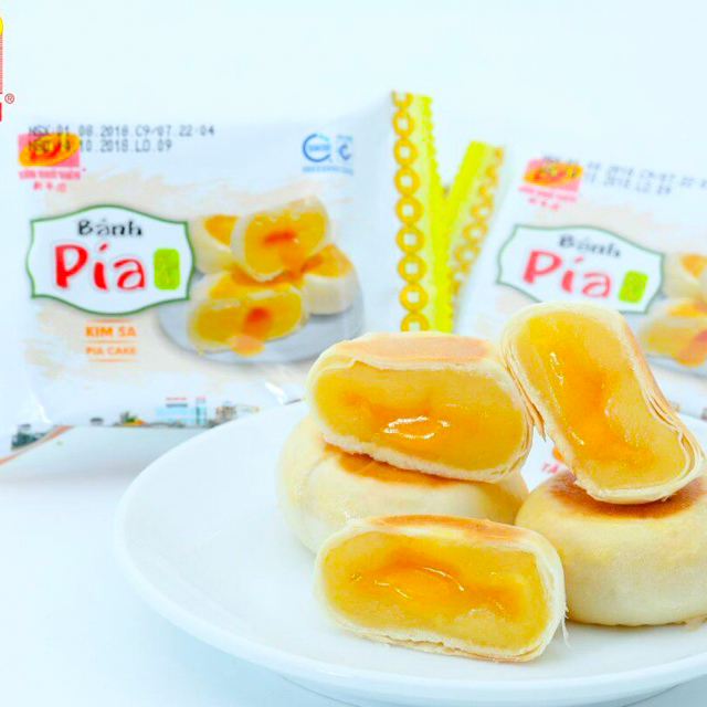 Bánh Pía Kim Sa_Tân Huê Viên( loại 500g/túi)_Đặc Sản Sóc Trăng