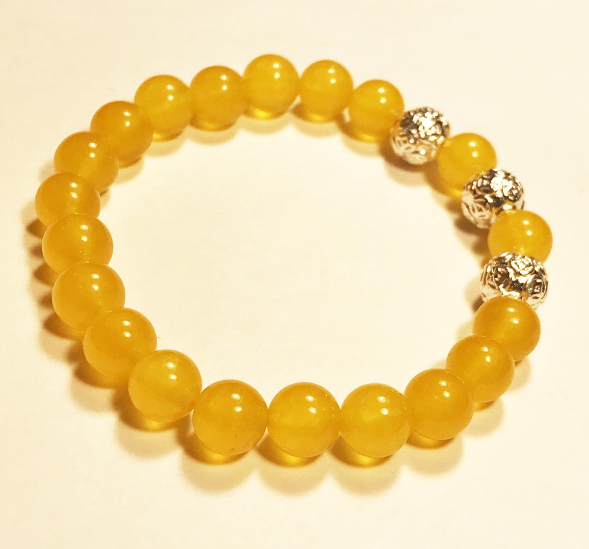 Vòng tay phong thủy nữ đá thạch anh Vàng mix 3 Kim tiền Bạc thời trang handmade đẹp hợp mệnh Thổ mệnh Kim