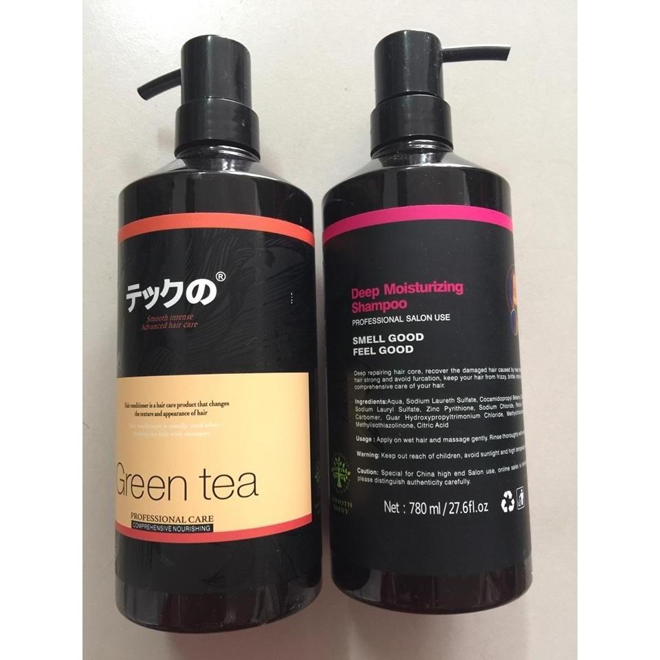 Cặp dầu gội xả dưỡng tóc Green Tea Nhật Bản 800ml