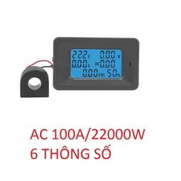 Đồng hồ đo công suất  tiêu thụ điện V, A, W, Wh, Hz, Cos phi 100A - Watt