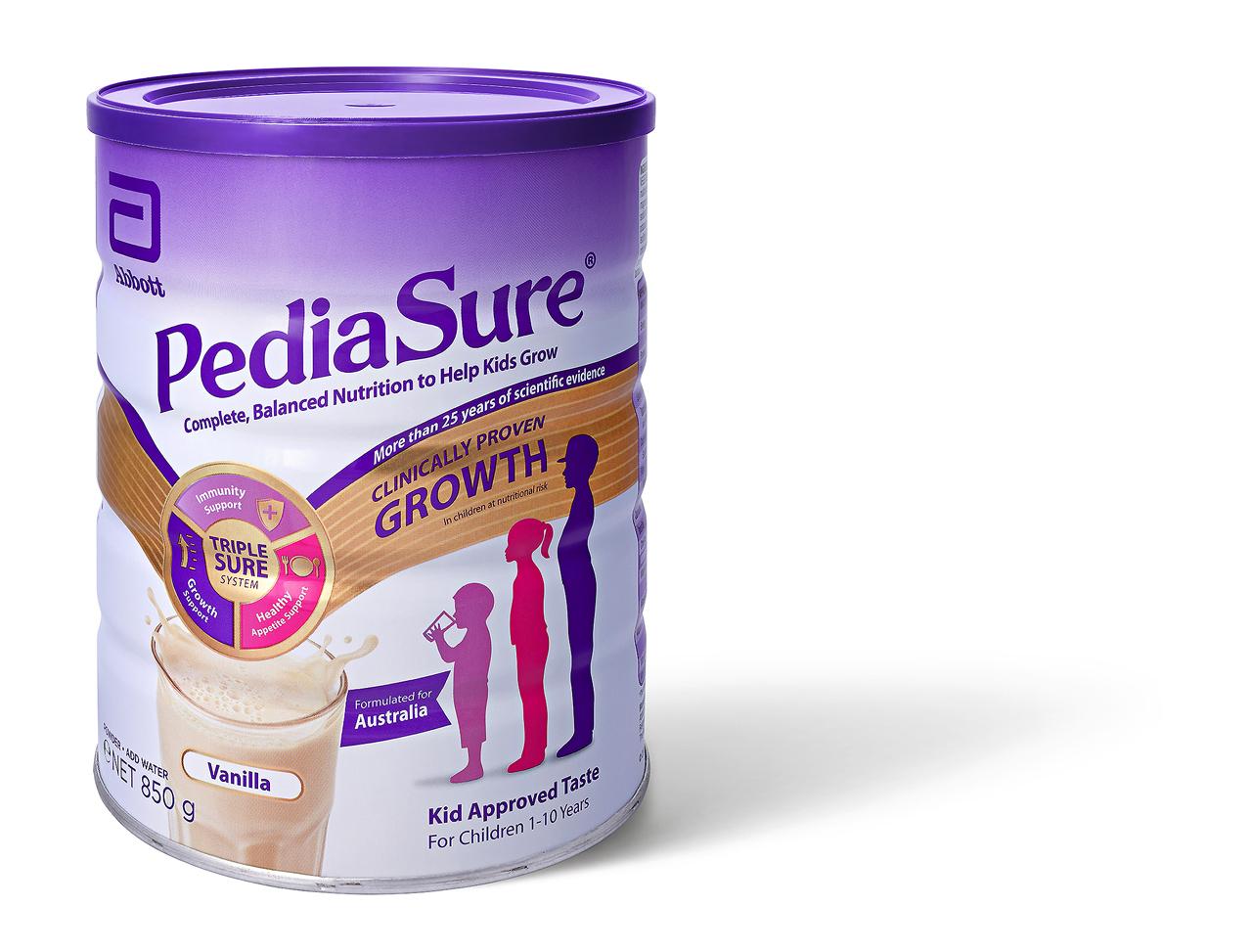 Sữa bột Pediasure 850gram vị Vanilla, hàng xách tay Úc