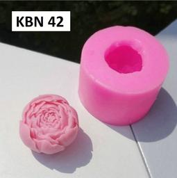 Khuôn silicon 4d hoa hải đường trung