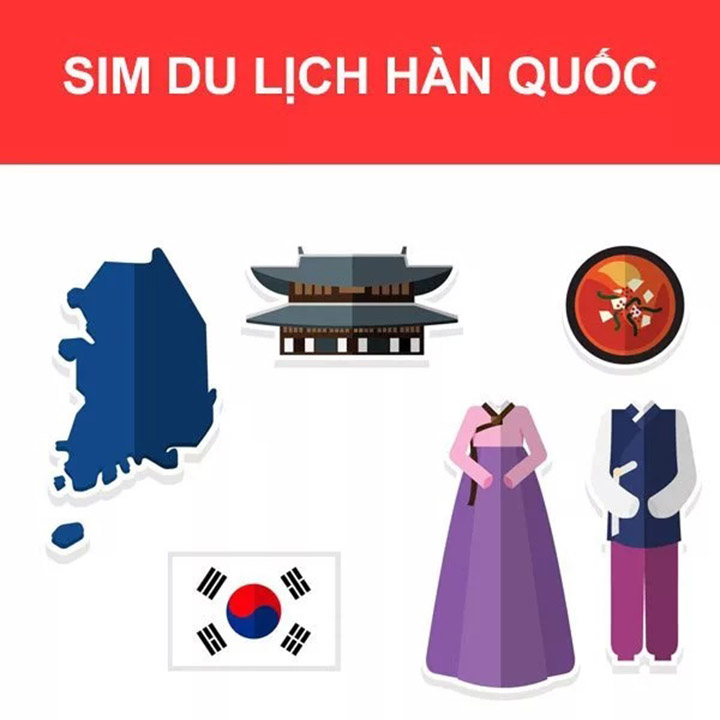 Sim Du lịch Hàn Quốc 100GB 4G (4 ngày)