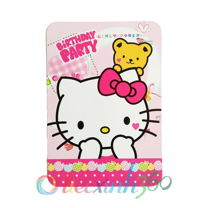 Combo 10 thiệp mời sinh nhật hello kitty