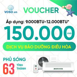 Voucher Bảo dưỡng điều hòa 9000BTU- 12000BTU