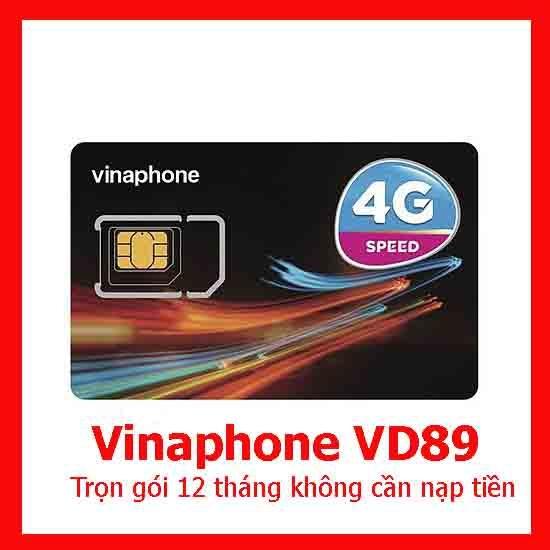 Sim 4G Vinaphone VD89 12T 2GB/ngày trọn gói 1 năm cần không nạp tiền
