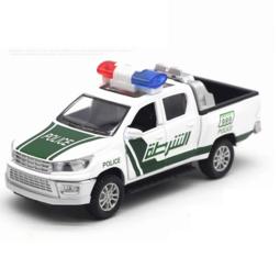Xe ô tô cảnh sát Đồ chơi trẻ em bằng sắt có đèn và âm thanh mô hình  tỉ lệ 1:32