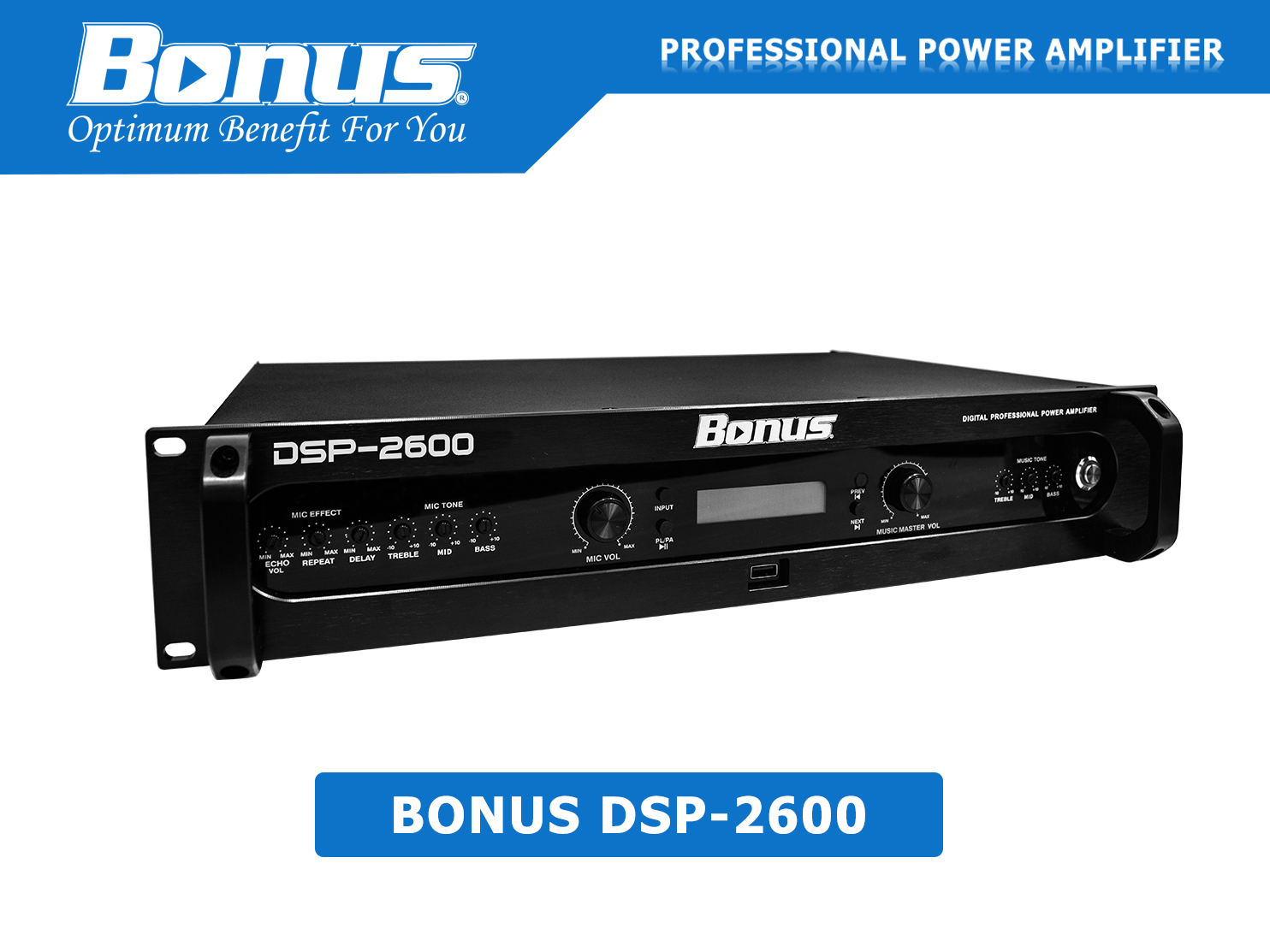 Amply digital karaoke Bonus Audio DSP-2600