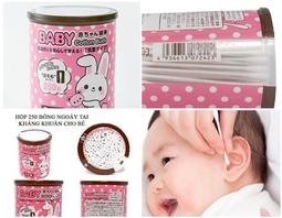 Set 250 bông ngoáy tai kháng khuẩn cao cấp cho bé