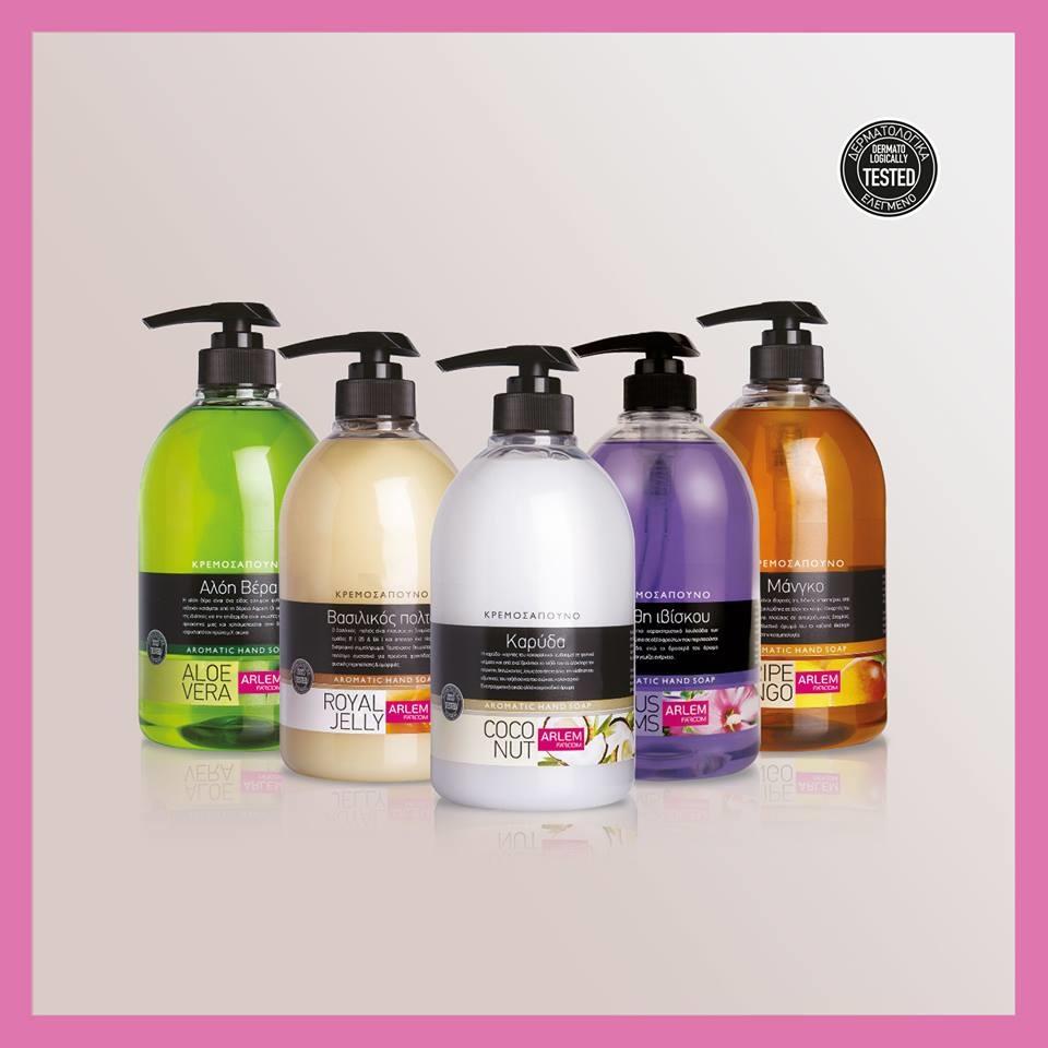 Gel rửa tay hương xoài Farcom Arlem liquid hand soap Mango 500ml