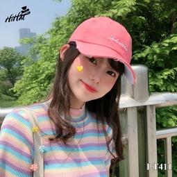 Mũ kết thêu chữ đơn giản, rách viền cá tính - màu hồng LT411h