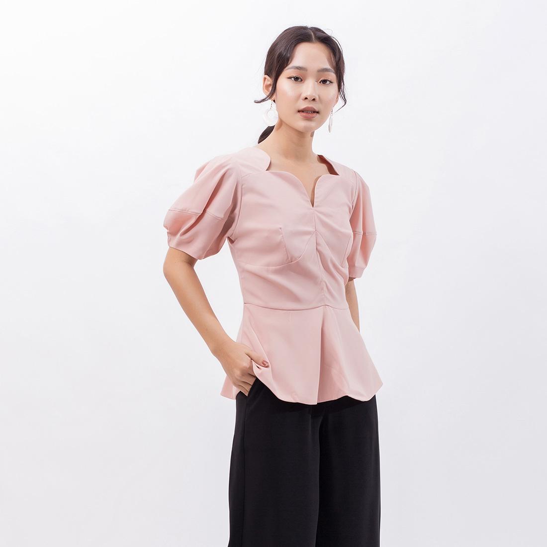 Áo Kiểu Peplum Thời Trang Eden - ASM077 - Màu Hồng