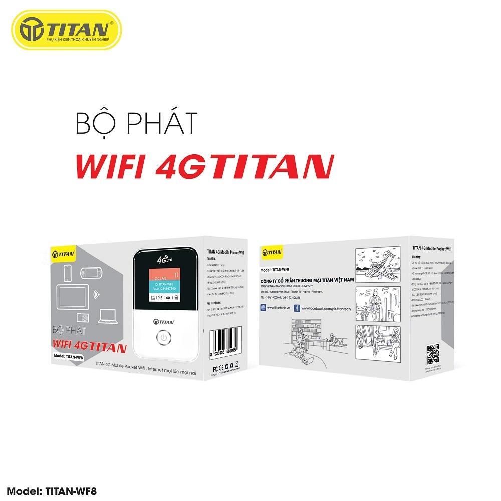 Bộ Phát WIFI 4G Titan WF8 - Bảo hành 12 tháng 1 đổi 1