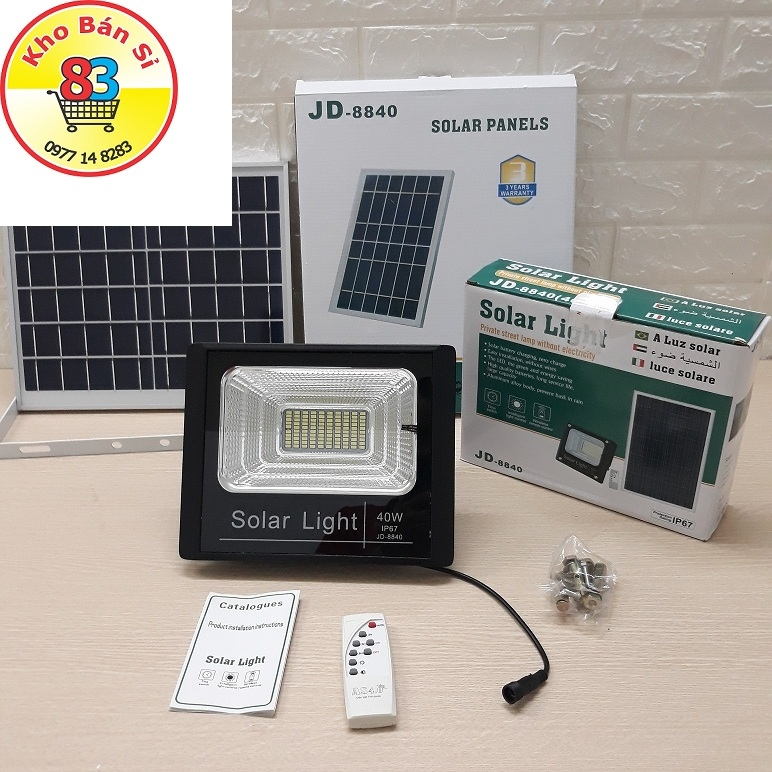 Đèn LED năng lượng mặt trời Solar Light 40w