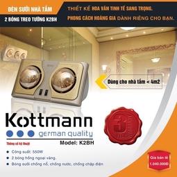 Đèn Sưởi Nhà Tắm 2 bóng Kottman K2BQ