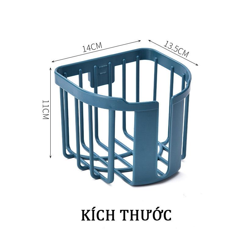 Giỏ Đựng Giấy Vệ Sinh Gắn Tường Chống Nước Không Cần Khoan Có Khay Điện Thoại Tự Dính (UC-C849-2)