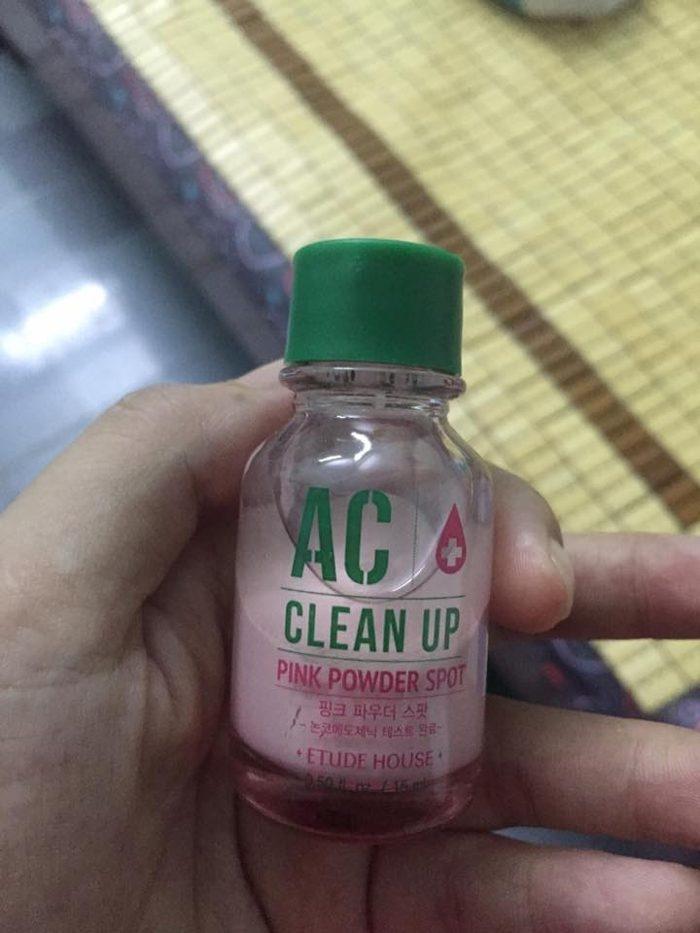 Chấm mụn AC CLEAN UP PINK POWDER SPOT