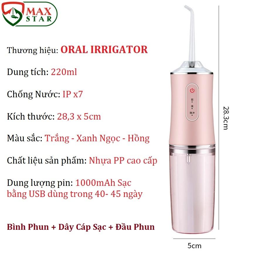 Máy tăm nước ORAL IRRIGATOR làm sạch răng miệng 3 chế độ