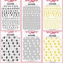 sticker dán móng khô 8-22