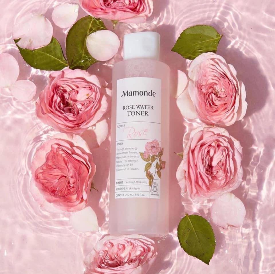 Set toner hoa hồng Mamonde - Rose water toner set, mua 1 tặng 1