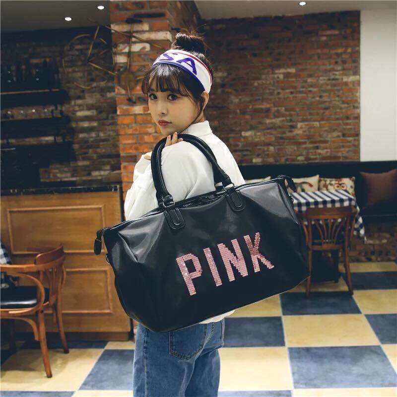 Túi xách du lịch Love Pink