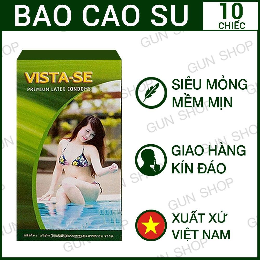 Bao cao su Việt Nam Vista - mỏng và trơn - 10 chiếc
