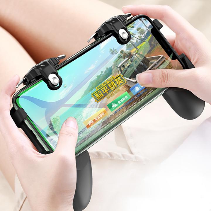 Bộ 2 nút bấm chơi game HX thế hệ mới chơi PUBG ROS trên điện thoại thông minh đen