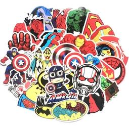 Bộ 50 miếng Sticker hình dán Avenger - Set A