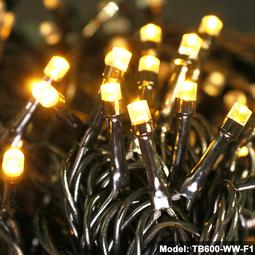 Đèn nháy 60m dây điện màu đen - Vàng Nắng - Nháy điểm ánh sao