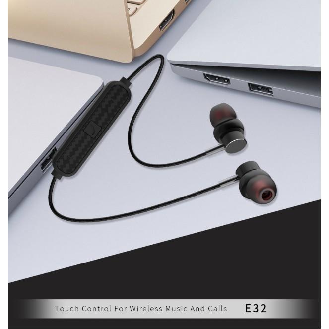 Tai Nghe thể thao kim loại Bluetooth SENDEM E32 - nút cảm ứng - chống nước - cách âm tốt