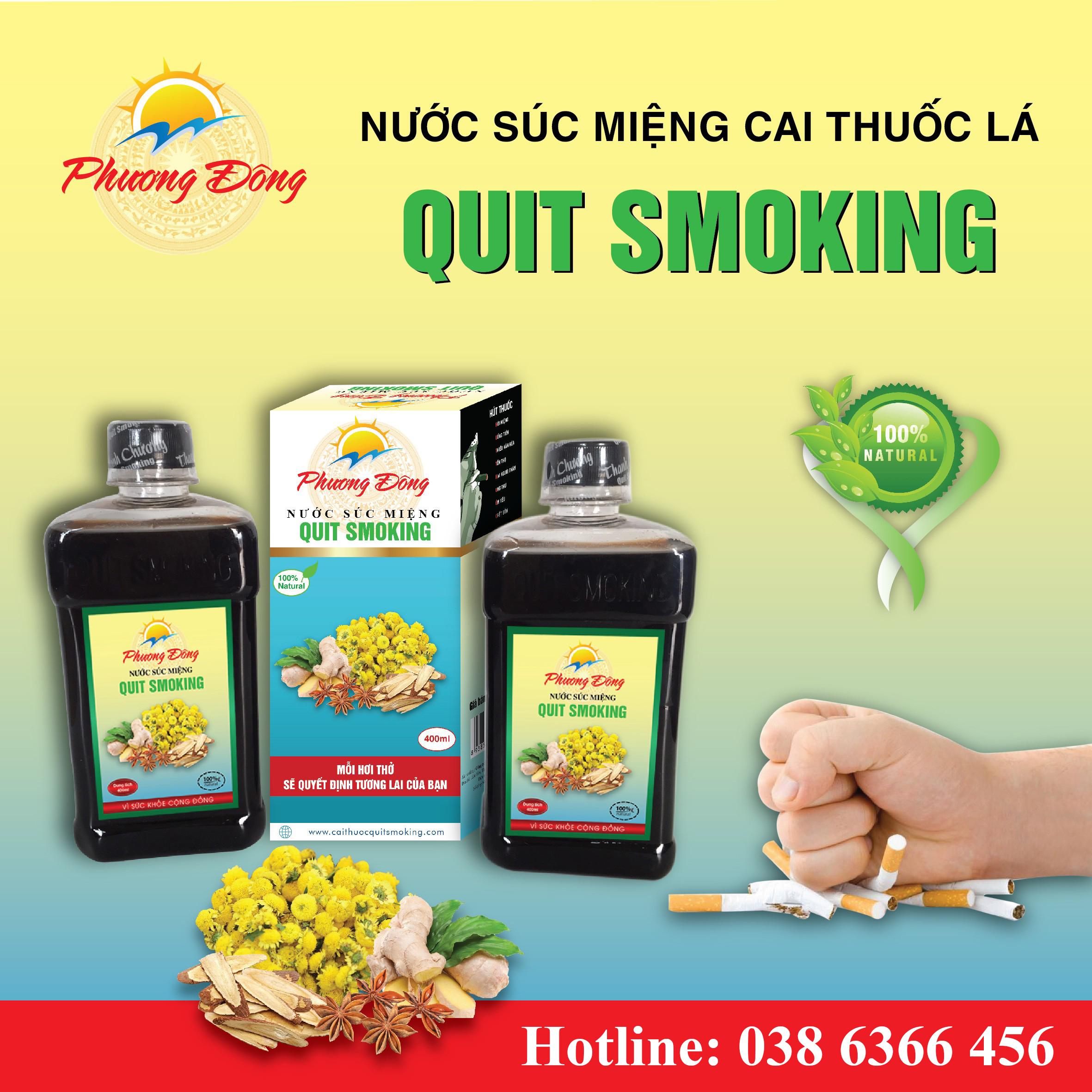 Quit-Smoking Nước Súc Miệng Cai Thuốc Lá