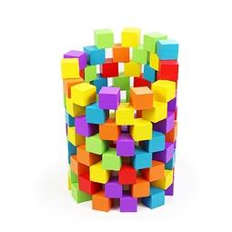 100 Hạt gỗ lập phương màu sắc đồ chơi gỗ giáo dục Montessori loại 2cm