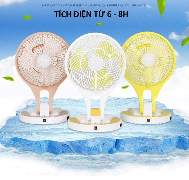 Quạt sạc điện kiêm đèn pin Mini Fan M-5580