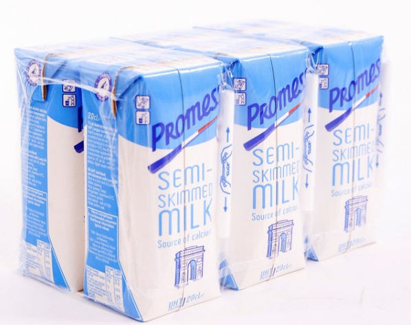 Lốc 6 Sữa Tươi Nguyên Kem Ít Béo PROMESS 200ml