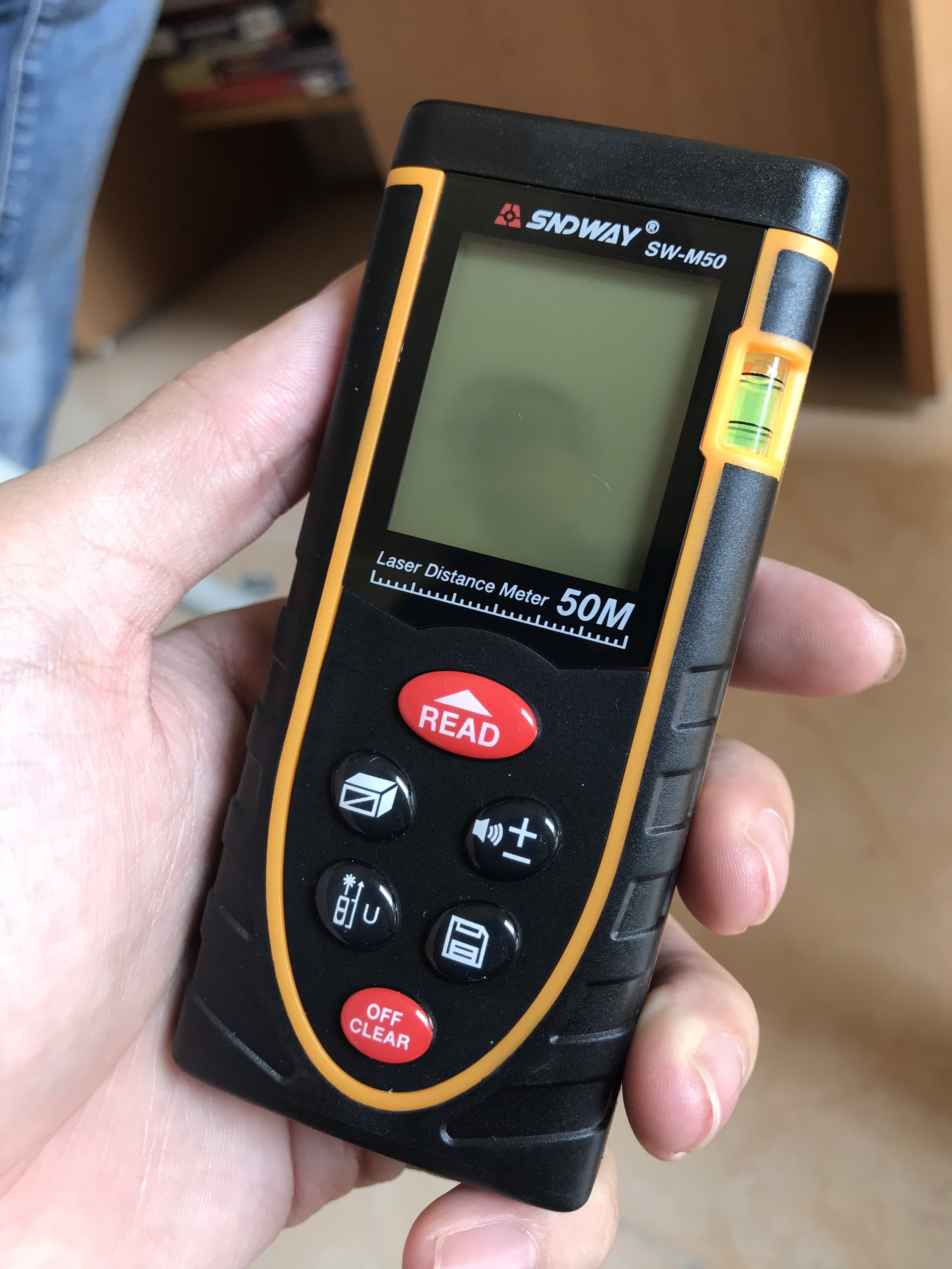 Máy đo khoảng cách SNDWAY-50M Tặng kèm bật mực