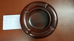 Gạt tàn gỗ hương nguyên khối tròn 11cm