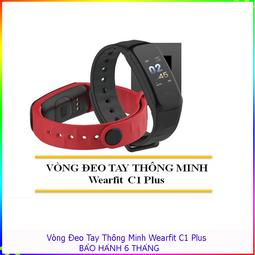 Đồng hồ, vòng đeo tay thông minh Wearfit C1 , Đo sức khỏe, báo tin điện thoại - đồng hồ đo huyết áp