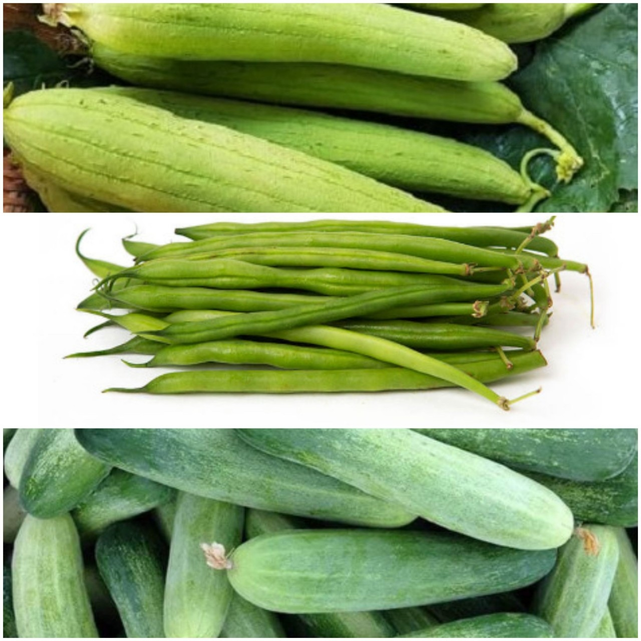 Combo rau củ quả ( 2 kg dưa leo + 1 kg mướp + 1 kg đậu que)