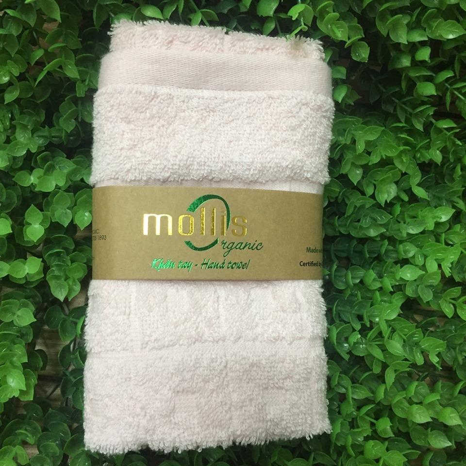 Khăn hữu cơ Mollis Kt 30x50cm - hồng