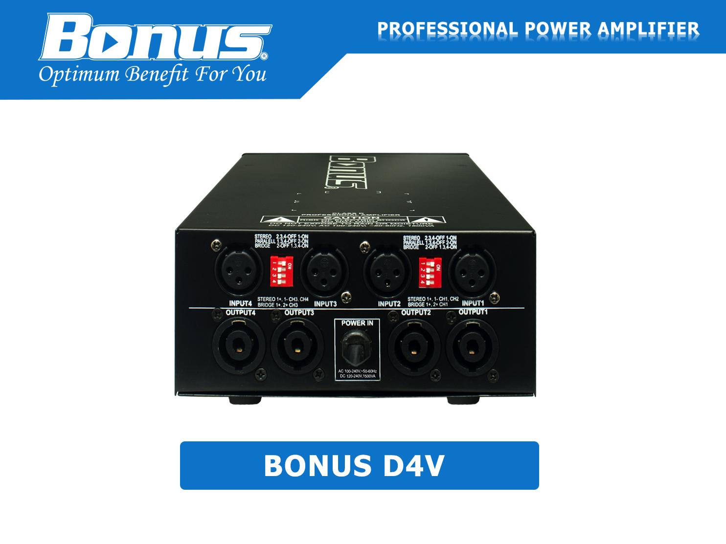 Cục đẩy - Main Power Bonus Audio D4V